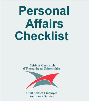 CSEAS Personal Affairs Checklist